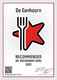 restaurant certificaat